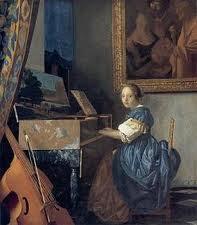 Vermeer schilderij Zittende virginaalspeelster