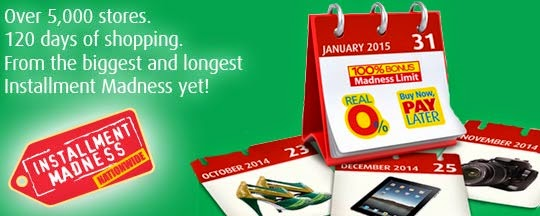 BPI Credit Cards: Installment Madness Nationwide Until January 31, 2015