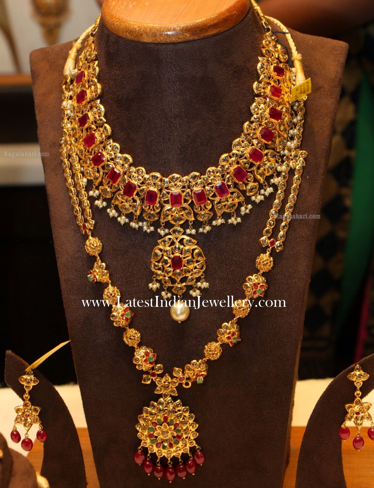 Uncut Diamond Ruby Bridal Jewellery