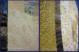 Haiku Quilt - quilting detail collage