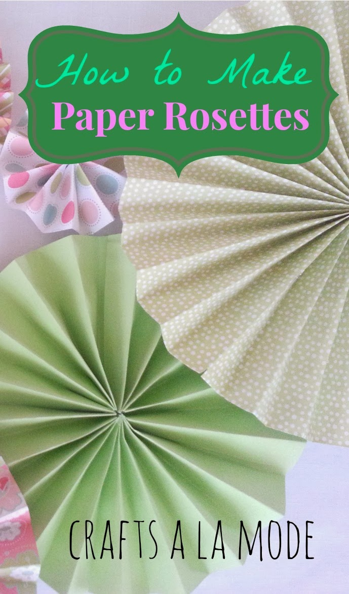 pretty paper rosettes pink green