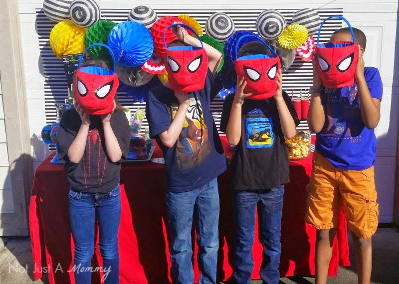 Disney Marvel Easter Egg Hunt Spider-Man baskets