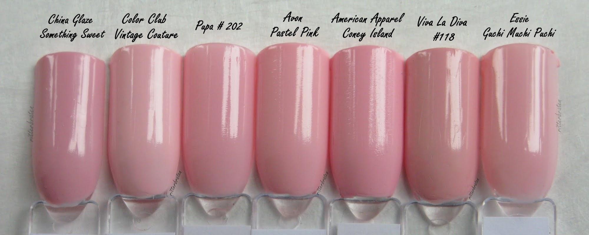 pastel pink comparison