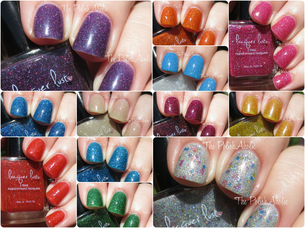 The PolishAholic: Lacquer Lust New Glitters Swatches & Review