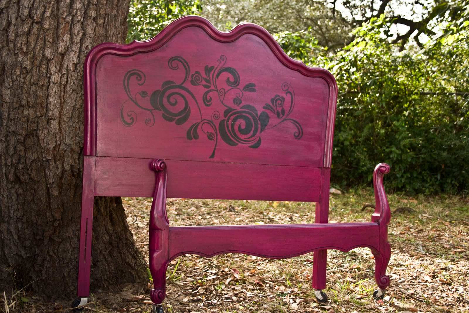 Modernly Shabby Chic Furniture: Raspberry and Black Whimsical Twin ...
