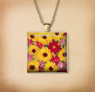 Digital Photo template for pendant on vintage background