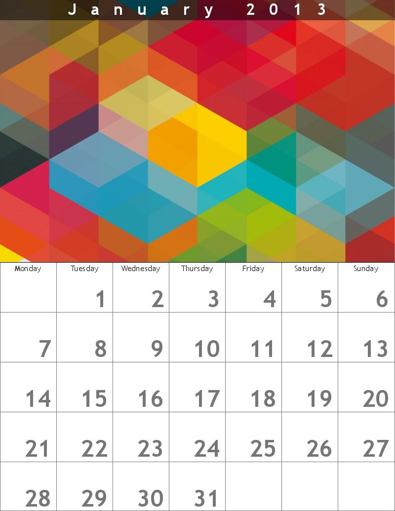 Modificare foto creare un calendario 2013 con le proprie foto gratis - Calendario da tavolo con foto proprie ...