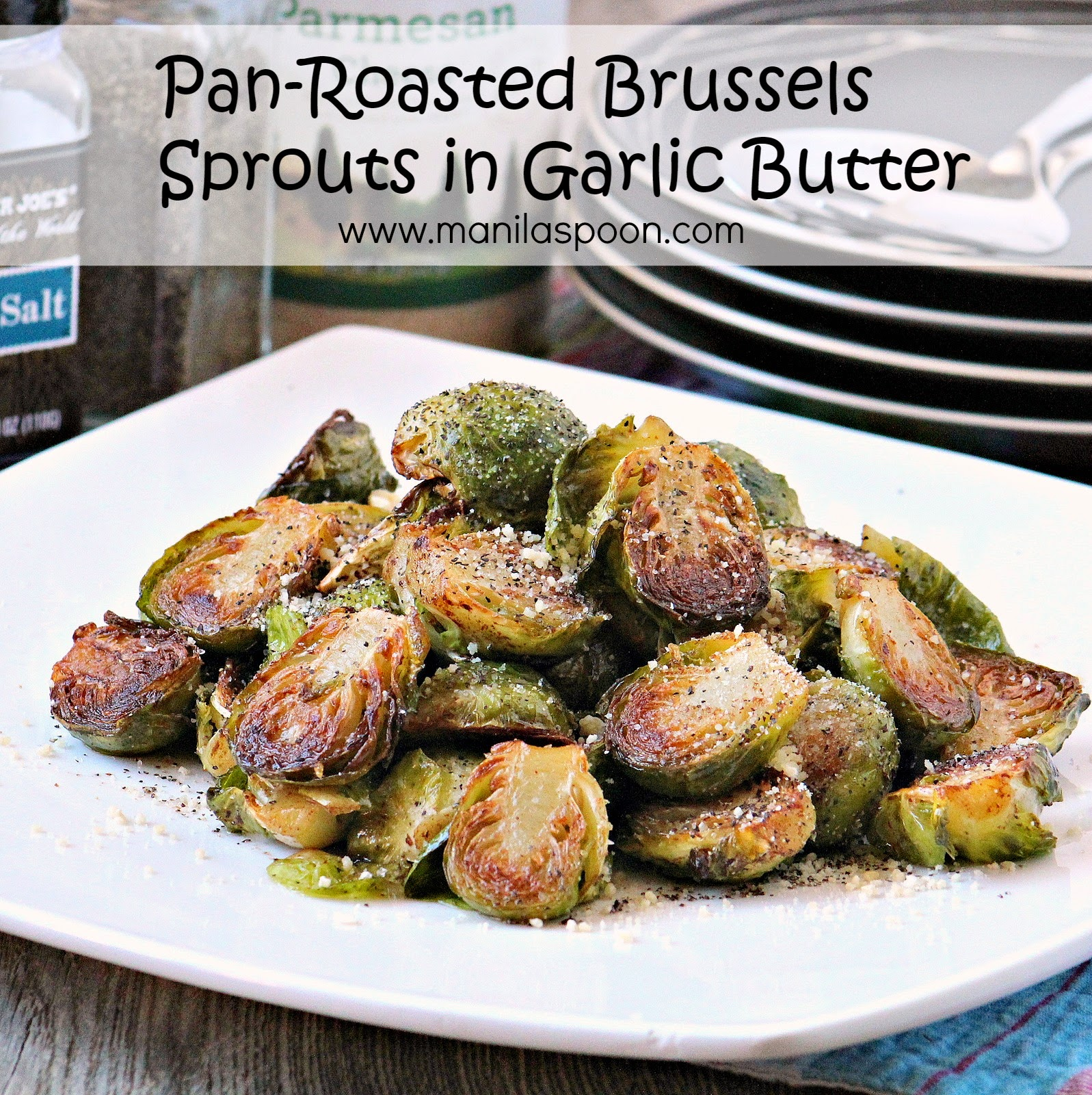 Pan-Roasted Sprouts in Garlic Butter
