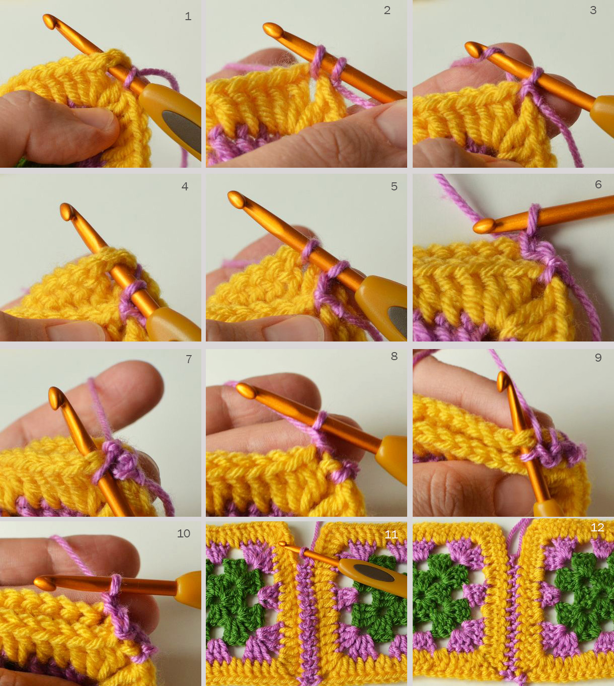 And When You Crochet Across Using This Method, You Should Not Make An  Additional Ch1, Because You Already Made One After Slip Stitch In The  Corner