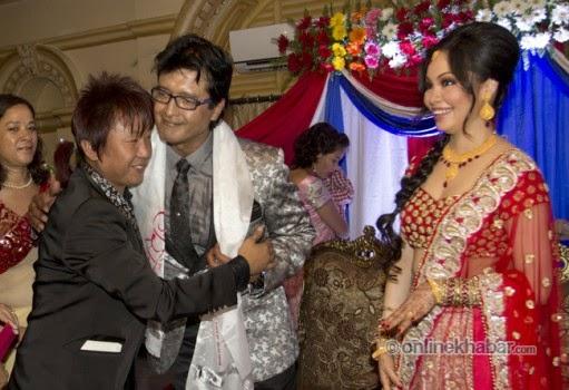 rajesh hamal and madhu bhattarai wedding, rajesh payal rai