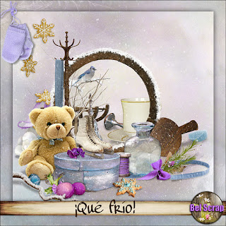 "Free scrapbook kit ""So Cold"" from belscrap"