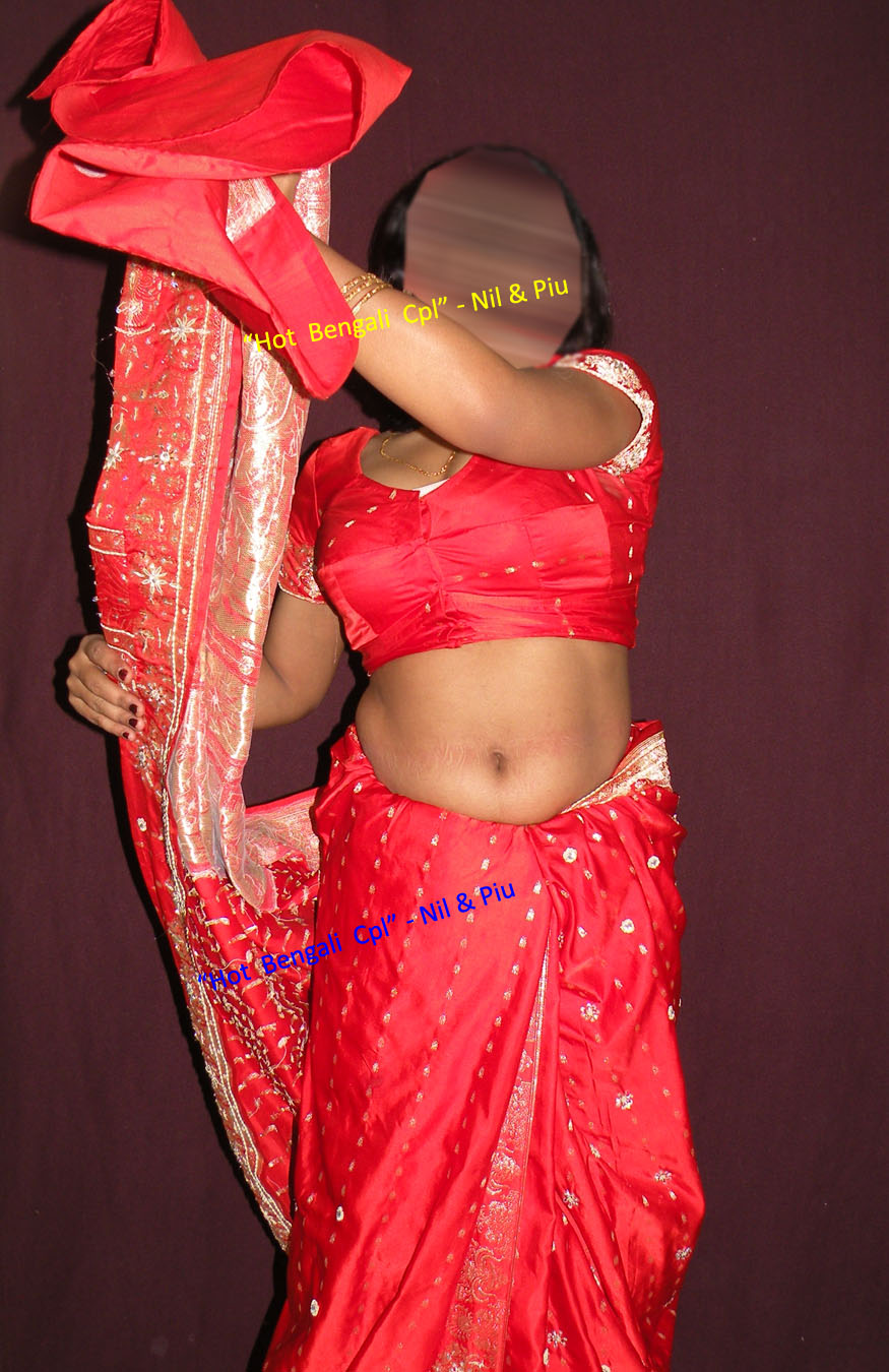 Naked Red Sexy Sari Wife In