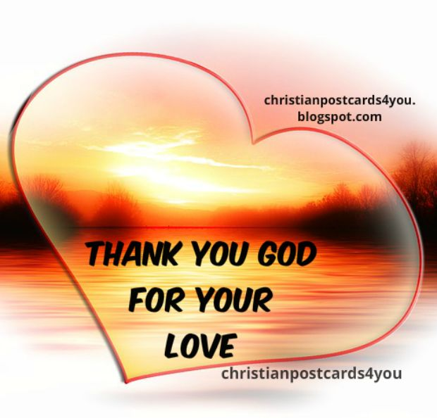 free christian love card thanksgiving, happy day, God's love