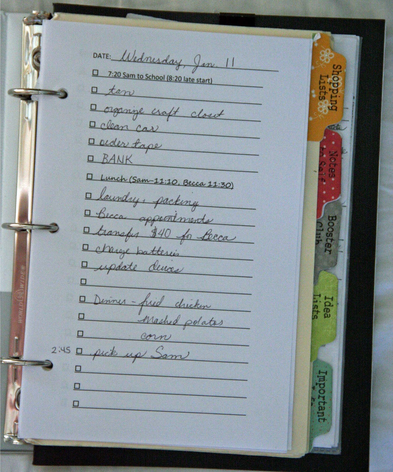 Simplicity image within diy daily planner