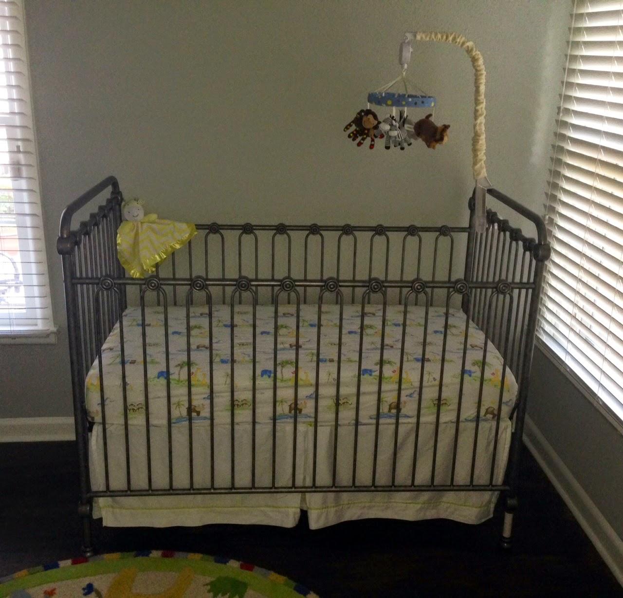 Crib mobile babies r us - Pewter Wrought Iron Crib Bratt Decor Crib Bedding Pottery Barn Kids Musical Safari Mobile Babies R Us