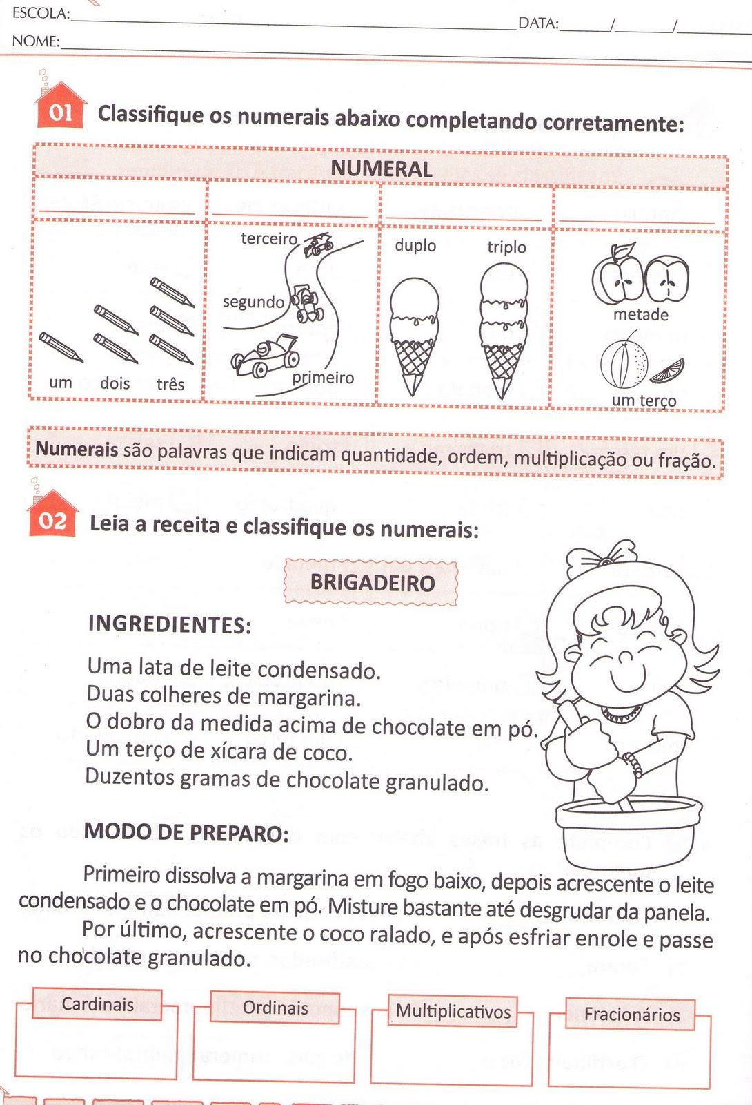 Amado Blog Professor Zezinho : Números Cardinais,ordinais  RH12