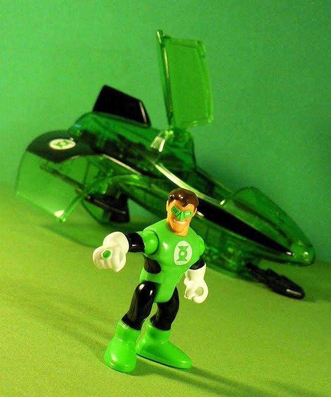 imaginext green lantern jet w hawkman flash
