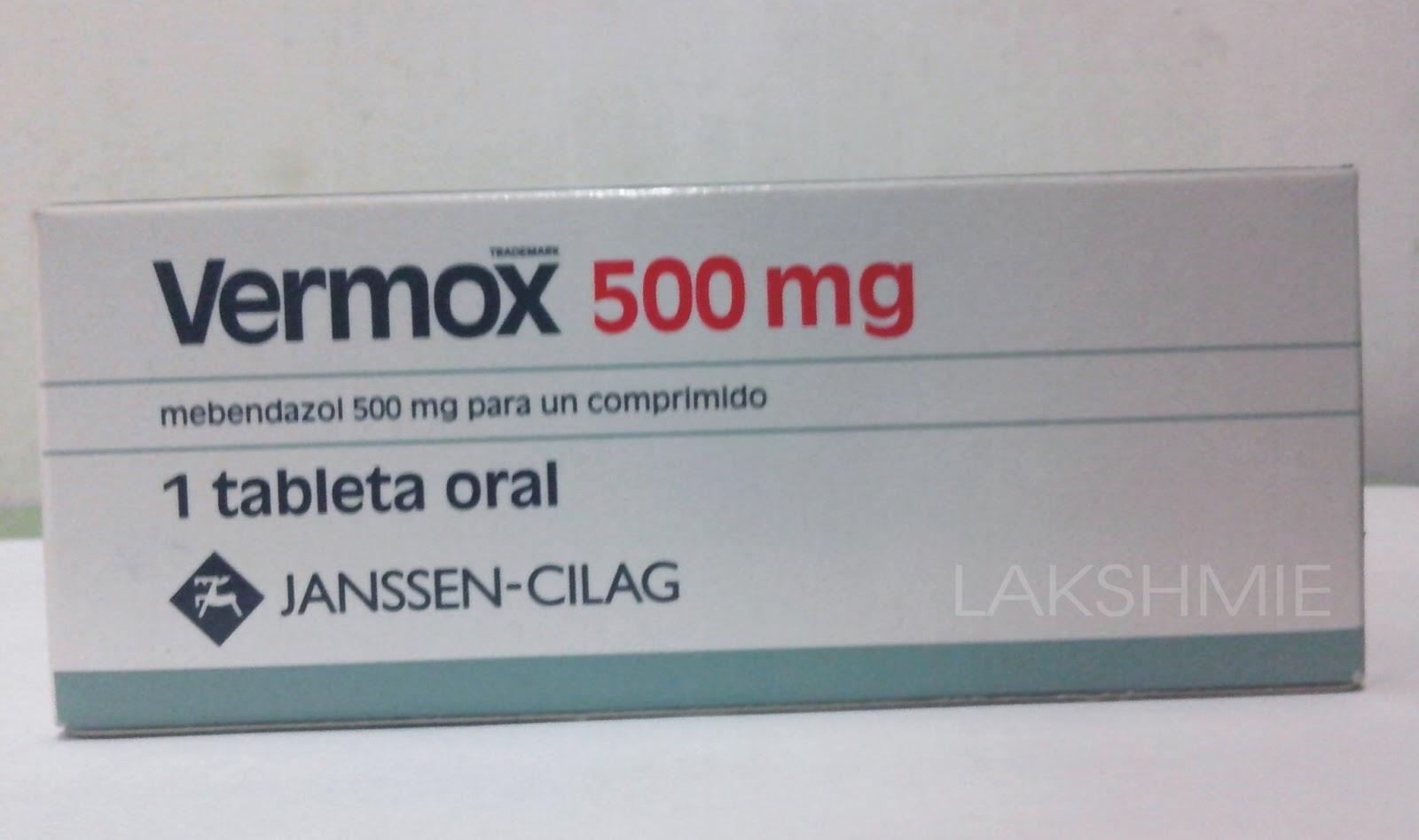 Vermox Mebendazole 500 Mg