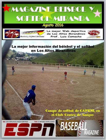 Magazine Beisbol y Softbol Miranda Agosto 2016