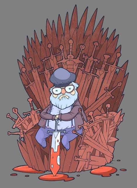 George RR Martin trono de hierro dibujo - Juego de Tronos en los siete reinos