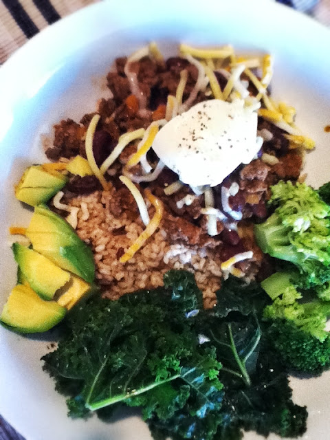 Chilli Con Carne with Broccoli and Kale