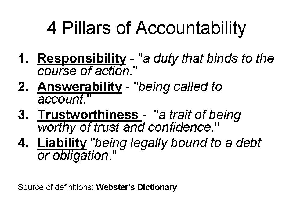 4 pillars of accountability 21 Accountability And Integrity Quotes