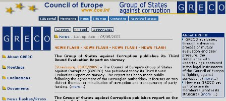 The Group of States against Corruption (GRECO)