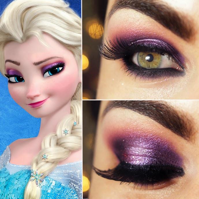 Видео как сделать макияж как у эльзы из холодного сердца