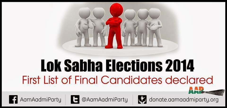 First List of Final Candidates Declared