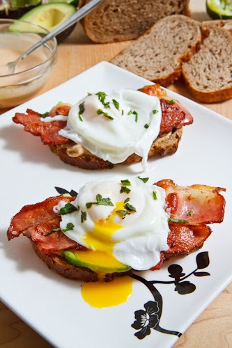 ... page: Poached Egg on Toast with Chipotle Mayonnaise, Bacon and Avocado