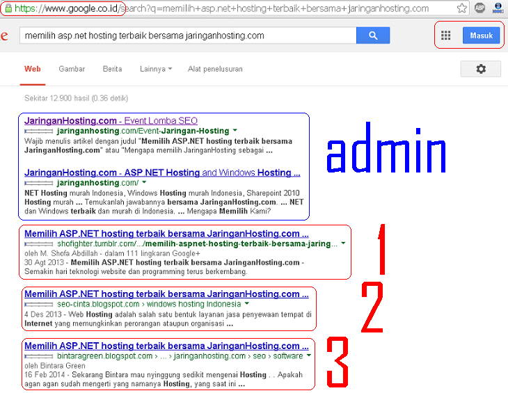 hasil pencarian google.co.id