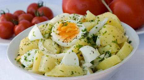 Фото салат из яиц и картофеля