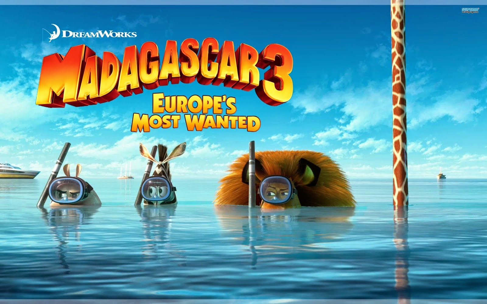 gallerycartoon.blogspot.com.Madagascar 3 3D Cartoon Wallpapers HD