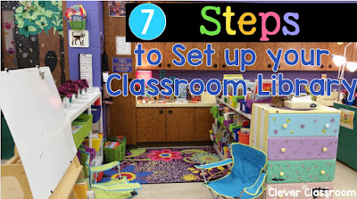 7 Steps to Set up your Classroom Library Clever Classroom