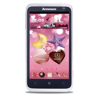 Harga dan gambar Lenovo S720 White - Android Smartphone