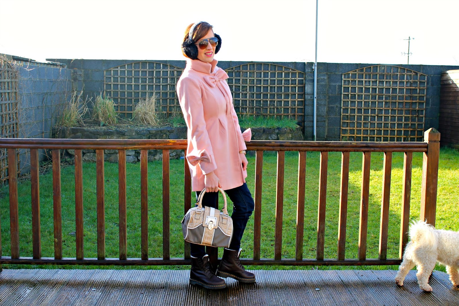 bec boo pink winter outfit