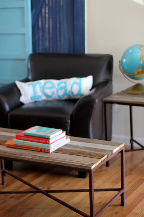 DIY Reclaimed Wood Coffee Table Via Kojo Designs