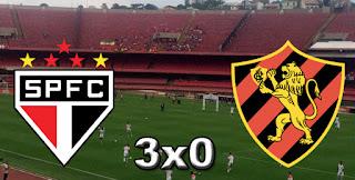 São Paulo 3x0 Sport