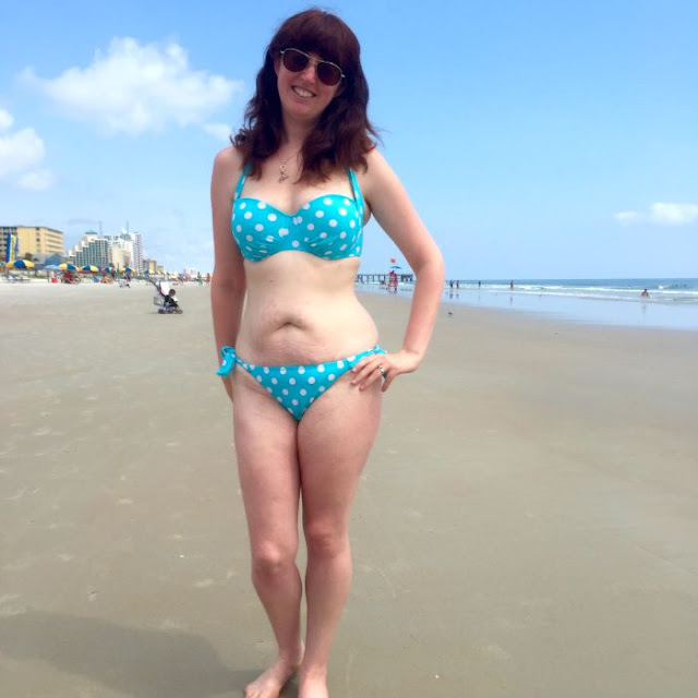 How Another Woman's Stare Empowered Me | Morgan's Milieu: Morgan Prince, in a bikini, at Daytona Beach