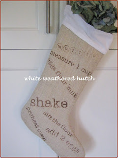 Burlap Kitchen Stocking and Tutorial