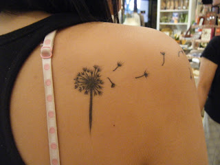 dandelion tattoo designs on Dandelion tattoo on shoulder