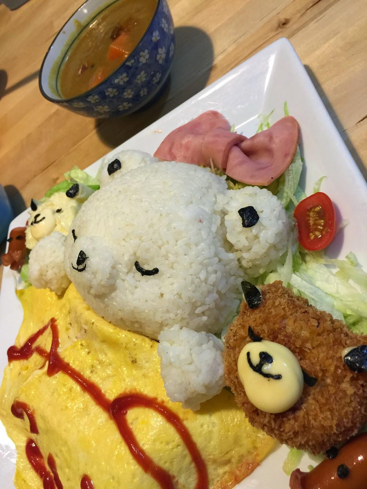 九龍 旺角 J-Point CAFE 全日點喫茶店 大人的兒童餐 甜睡的小熊家族
