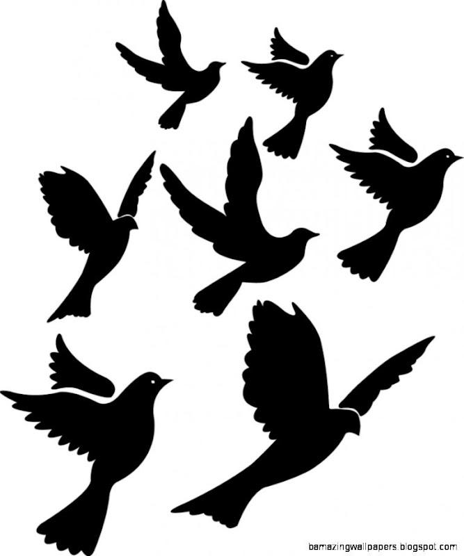 Flying Birds Silhouette Wall Art Sticker Decal Present Gift Art