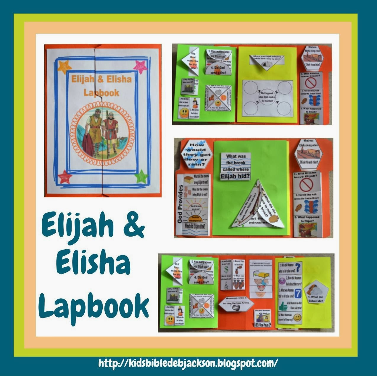 Bible Fun For Kids: Elijah & Elisha Lapbook