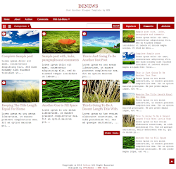 DeNews Red Blogger Template