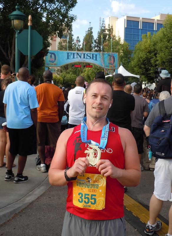 Jason rocks Disneyland Half Marathon 2011