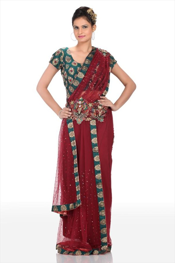 latest india Net Sarees