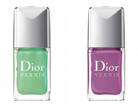 nail polish trends for sprig/summer 2012, chanel le vernis nail polish summer 2012 april may june, dior 694 forget-me-not and 504 waterlily nail polish trend, ysl la laque 7 and 8 nail polish spring/summer 2012