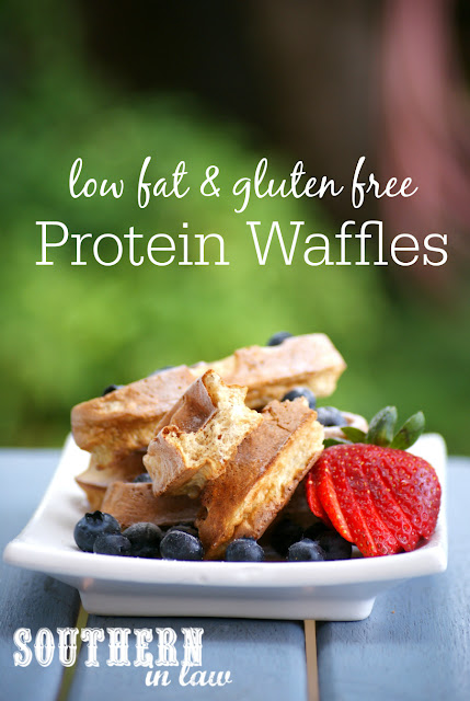 Gluten Free Protein Waffles Recipe - low fat, gluten free, healthy, clean eating, sugar free, dairy free, high protein