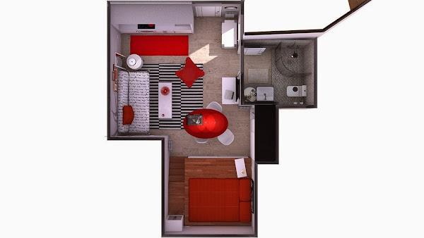 Minipisos decorar tu casa es for Diseno minidepartamento
